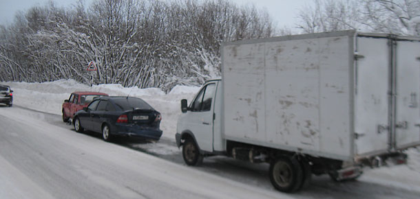 ДТП в Печоре с участием трех машин