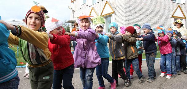 В печорском детском саду «Белоснежка» провели праздник сбора урожая