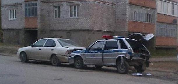 ДТП в Печоре с участием патрульного автомобиля ДПС