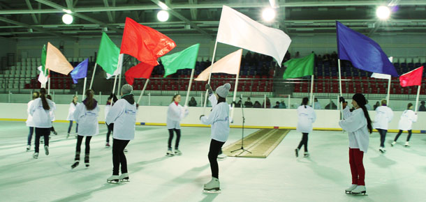 Прошла генеральная репетиция открытия ледового дворца в Печоре