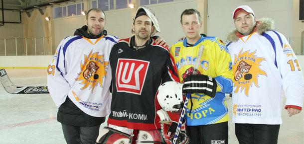 В СОК «Сияние севера» прошло открытое первенство Печоры по хоккею с шайбой