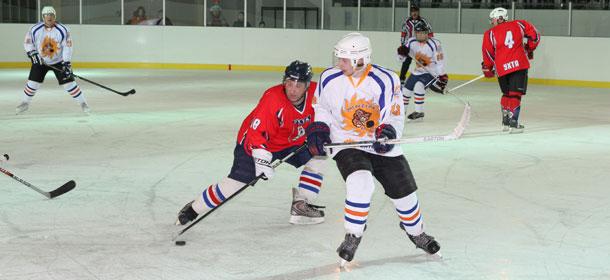Хоккейный матч на арене печорского ледового дворца
