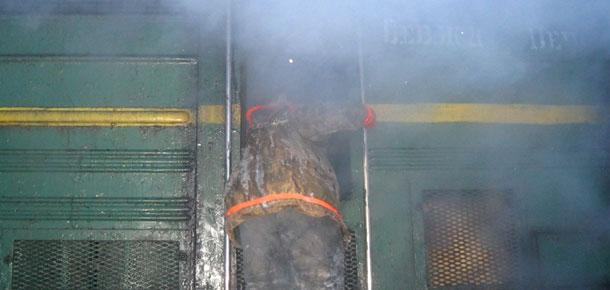 Возгорание тепловоза в Печорском районе