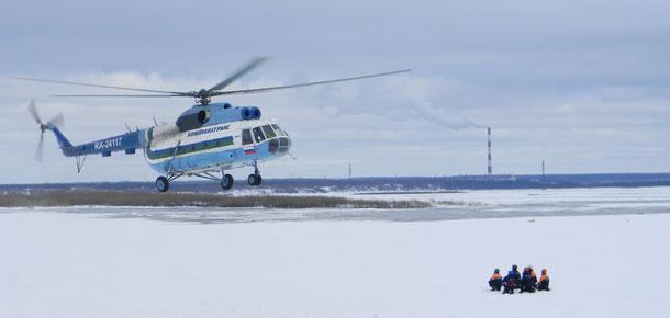 Прошла тренировка к предстоящему паводку сотрудников ГО и ЧС и Печорского аварийно-спасательного отряда
