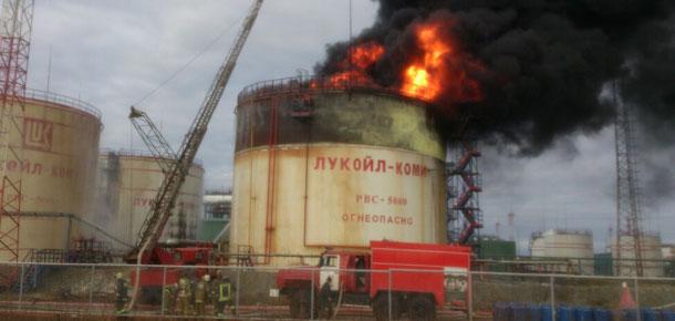 Печора пришла на помощь усинским пожарным