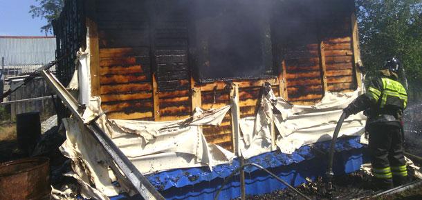 Пожар  в СОТ «Аграрник» в Печоре