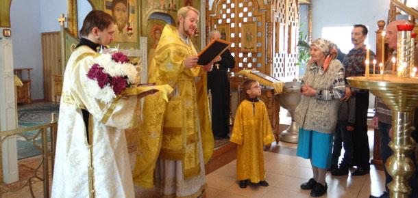 7 сентября в храме «Спаса Нерукотворного» г. Печоры прошла воскресная божественная литургия