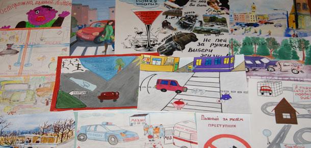 На территории МР «Печора» проведен конкурс рисунков на тему «Пьяный за рулем – преступник»