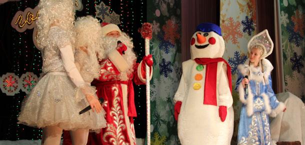 В Печоре ребят поздравили Дед Мороз и Снегурочка
