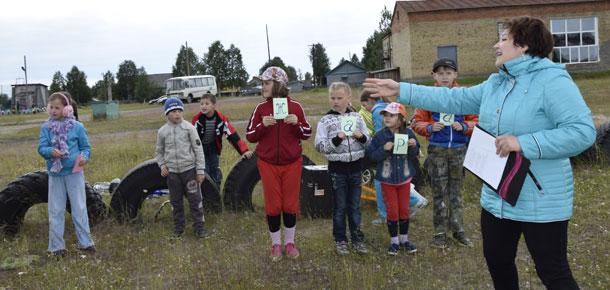В поселке Каджером Печорского района прошли детские состязания