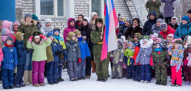 В печорском детском саду прошла военно-патриотическая игра «Зарница»